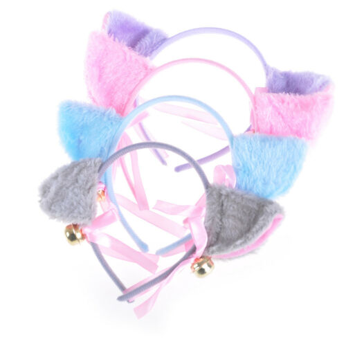 Fashion Cosplay Anime Costume Cat Fox Ears Bell Hair Clip Head Hoop Party LY