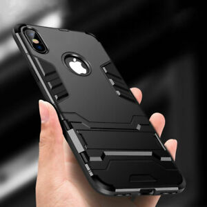 For iPhone X XS 8 7 Plus 6 Shockproof Rugged Hybrid Rubber Hard Armor Case Cover