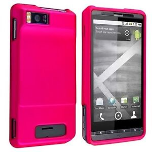 Hard-Rubberized-Case-for-Droid-X-MB810-Hot-Pink