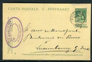 éNergique Belgique - Entier Postal De Poulseur Pour Luxembourg En 1914 - Réf M108 Attrayant Et Durable