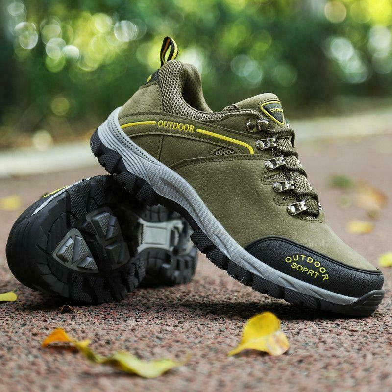 Mens Plus Size Outdoors Sport shoes Comfortable Hiking Walking Anti-Slip Casual