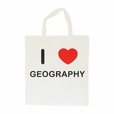 I Love Geography - Cotton Bag   Size choice Tote, Shopper or Sling