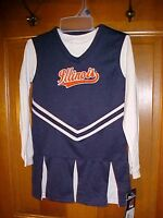 Illinois Girls 3t Cheerleading Outfit Dress Top Panties 3 Pc Stretch