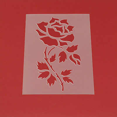 Schablone Wandschablone Rose Blume Blätter Blüte MF42