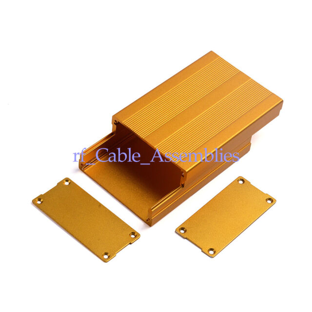 Split Body Aluminum Project Box Enclosure Case Electronic DIY 35*76*110mm Golden