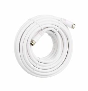 Details about 25FT RG6 Coax Coaxial F type HD Satellite Cable TV Antenna Cable and flat cable