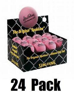 (24) Spalding 51-153 Small Pink High Bounce Spaldeen Balls for Stick Ball