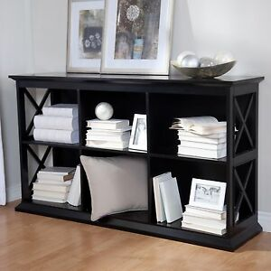 Cool Details About Black 6 Shelf Cubby Bookcase Console Table Home Living Room Furniture Storage Download Free Architecture Designs Rallybritishbridgeorg
