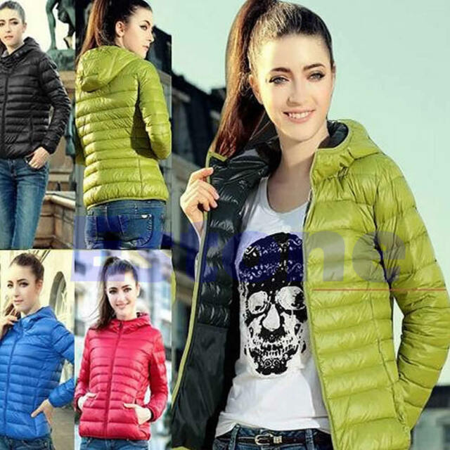 Fashion Women Thin Slim Down Coat Warm Jacket Winter Overcoat Parka Candy Color