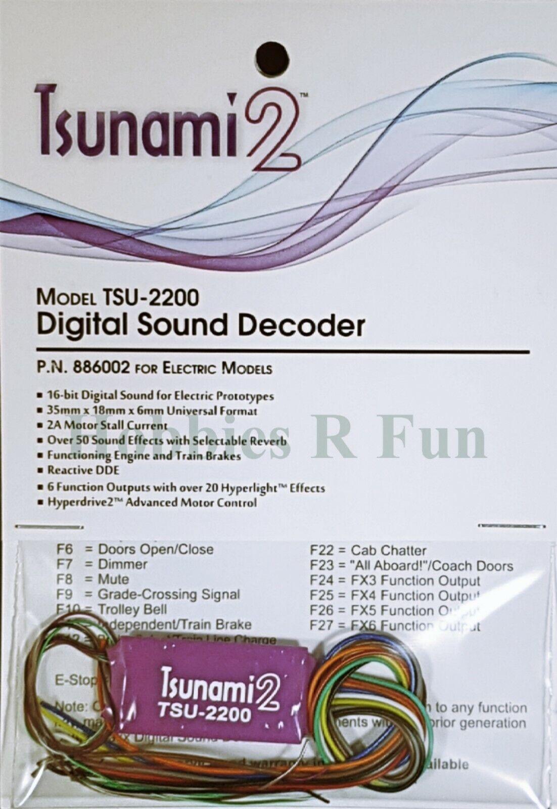 Soundtraxx TSU-2200 Tsunami2 Electric loco Sound decoder, 2amp universal version