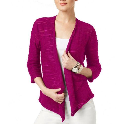 ALFANI NEW Women/'s Draped Asymmetrical Knit Cardigan Top TEDO
