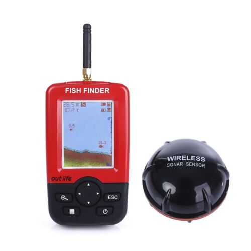 Smart Portable Deeper Fish Finder with 100m Wireless /& Rechargeable Sonar Sensor