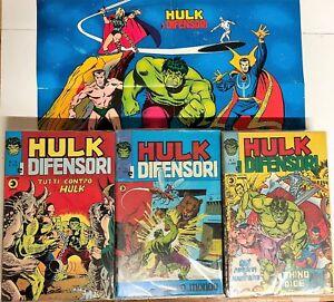 hulk-e-i-difensori-completa-da-1-a-44-corno-con-poster-n-1
