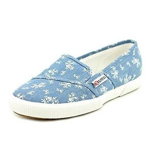 Superga-2210-Womens-Size-7-Blue-Canvas-Loafers-Shoes
