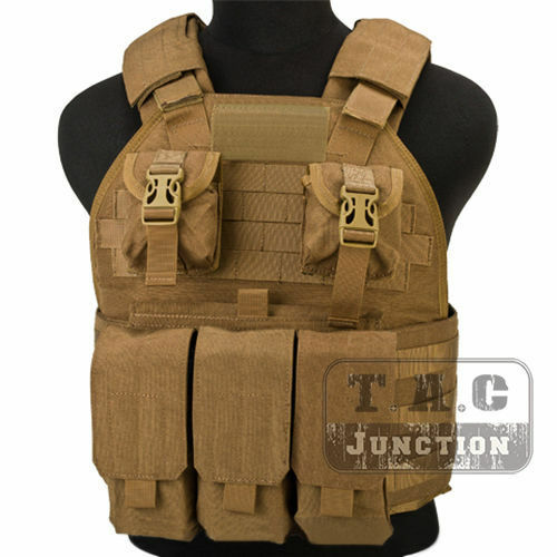 Emerson Tactical Compact High Speed Plate Carrier MOLLE Vest w  Magazine Pouch