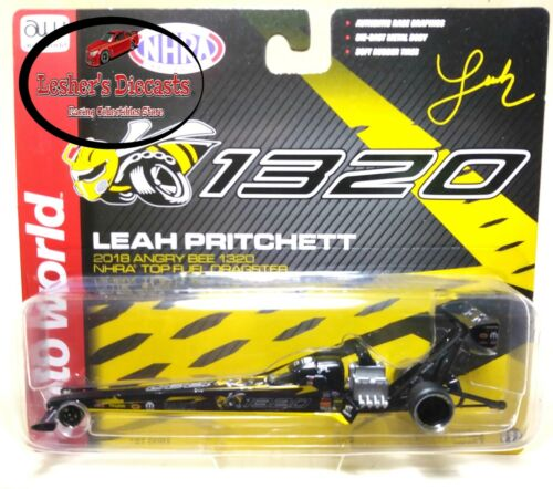 Leah Pritchett 2018 Angry Bee 1320 NHRA Top Fuel Dragster 1:64 Auto World