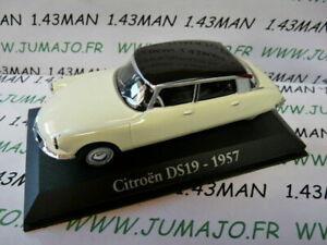 voiture-1-43-RBA-Italie-IXO-CITROEN-DS-19-1957-bicolore