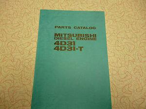 mitsubishi 4d31 4d31 t parts manual ebay rh ebay com Mitsubishi Eclipse Manual Mitsubishi Eclipse Spyder