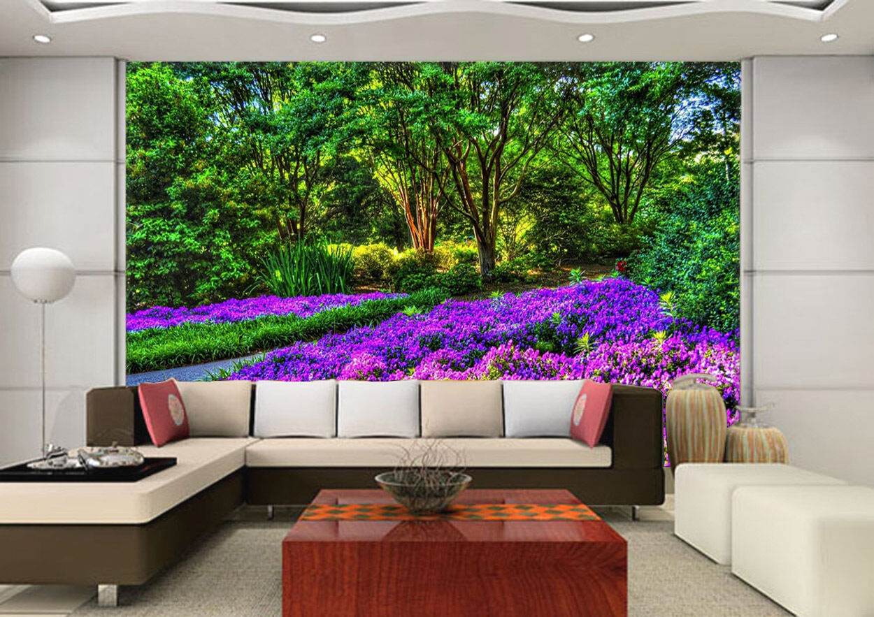 3D Trees flowers 256 Wall Paper Print Wall Decal Deco Indoor Wall Murals