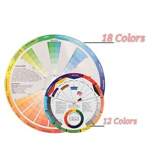 3PCS Creative Color Wheel Paint Mixing Learning Guide Tool for Makeup Tattoo
