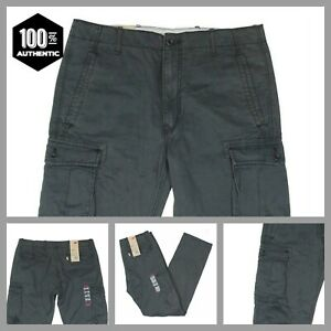 Levis-Ace-Cargo-Pants-Dark-Gray-Mens-Relaxed-Fit-100-Cotton-MANY-SIZES-NWT