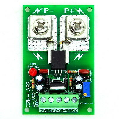 Panel Mount +/-50Amp AC/DC Current Sensor Module Board, based on ACS758