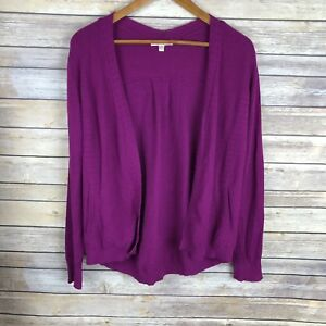 Stitch-Fix-Skies-are-Blue-Purple-Sonny-Open-Front-Pocket-Cardigan-Sweater-Size-M