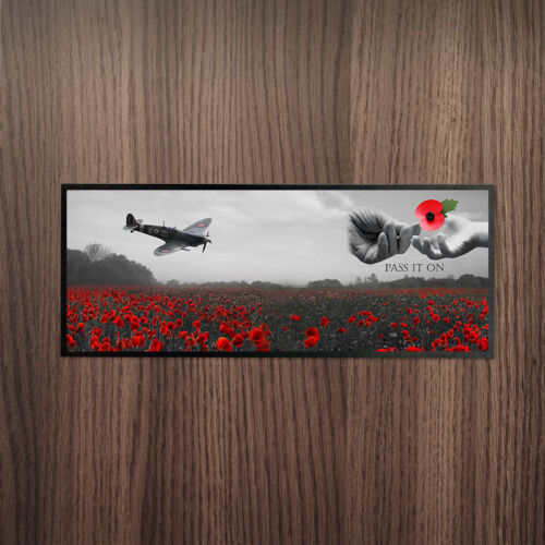 Pass It On Remembrance Day Bar Runner *DONATION TO POPPY APPEAL EVERY SALE*