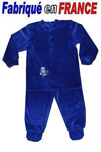 b0ab159cd78f8 Pyjama velours à pieds 2 pièces de 2 ans à 8 ans (navy) NEUF - GHIMI ...