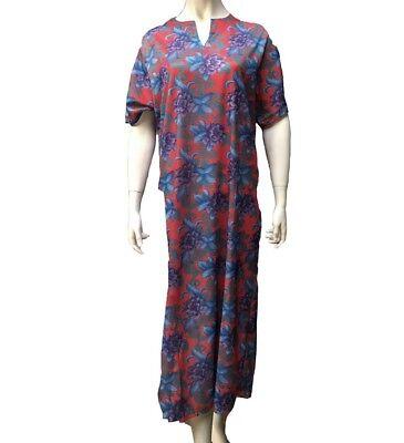 Femmes à manches courtes Floral Caftan chaise longue chemise de nuit Nightwear en Quatre Tailles