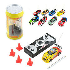 Multicolor Coke Can Mini RC Radio Remote Control Speed Micro Racing Car Toy Gift