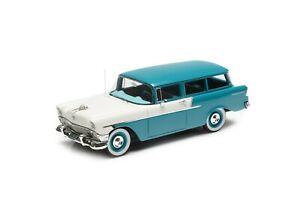 Esval Models LE 1956 Chevrolet 150 Handyman 2-door wagon blu/wt 1/43 Resin Model