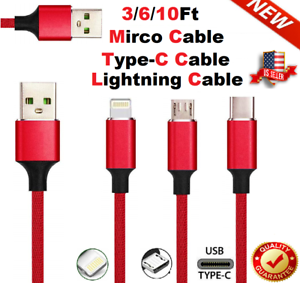 Fast-Charging-Braided-USB-Cord-For-iPhone-Samsung-Android-LG-Charger-Cable