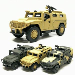 Tiger-M-Russisch-Militaer-Fahrzeug-1-32-Modellauto-Die-Cast-Spielzeugauto-Kinder