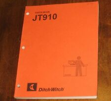 Ditch Witch Parts Book Jet Trac Boring System Jt910 Book