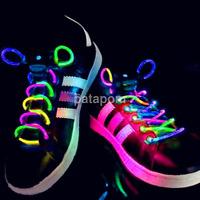 1Pair LED Shoelaces Flash Light Up Glow Stick Strap Shoe Disco Party US