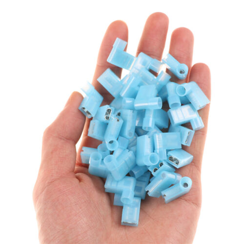 40pcs 90 Degree Nylon Insulated Female Push On Wire Terminal Connector/_ja