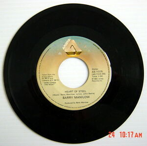1982-039-S-45-R-P-M-RECORD-BARRY-MANILOW-MEMORY-HEART-OF-STEEL