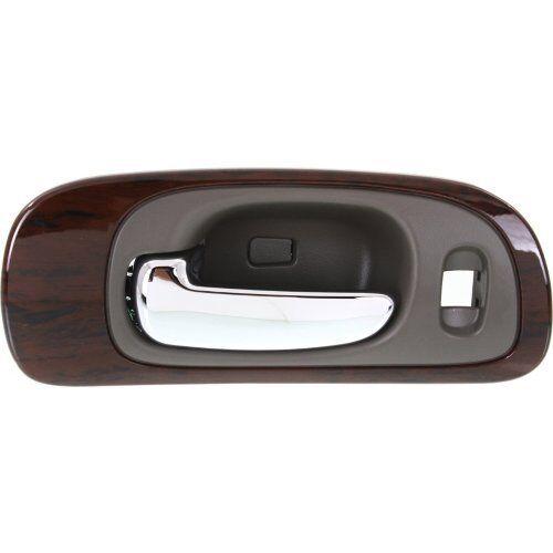 for Chrysler Inside Door Handle Front Driver Beige Chrome Lever Woodgrain Bezel