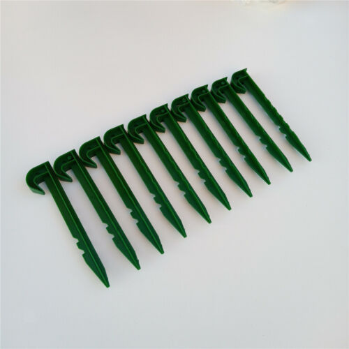 10-pack 5.75inch Garden Plastic Stakes Spike Hook Awning Tent Pegs Sturdy