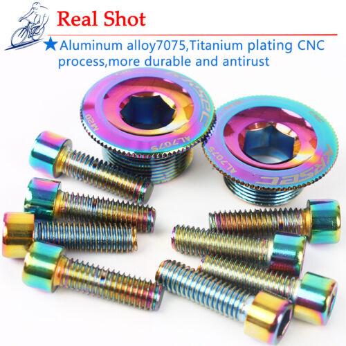 M15 18 20 Aluminum Crankset Crank Arms Hexagon Cap Bolts Fit Shimano//SRAM//FSA