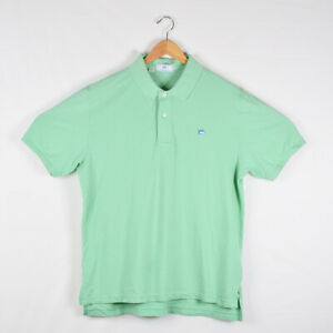 Men-039-s-Southern-Tide-Short-Sleeve-Polo-Shirt-Seafoam-Green-Size-XL
