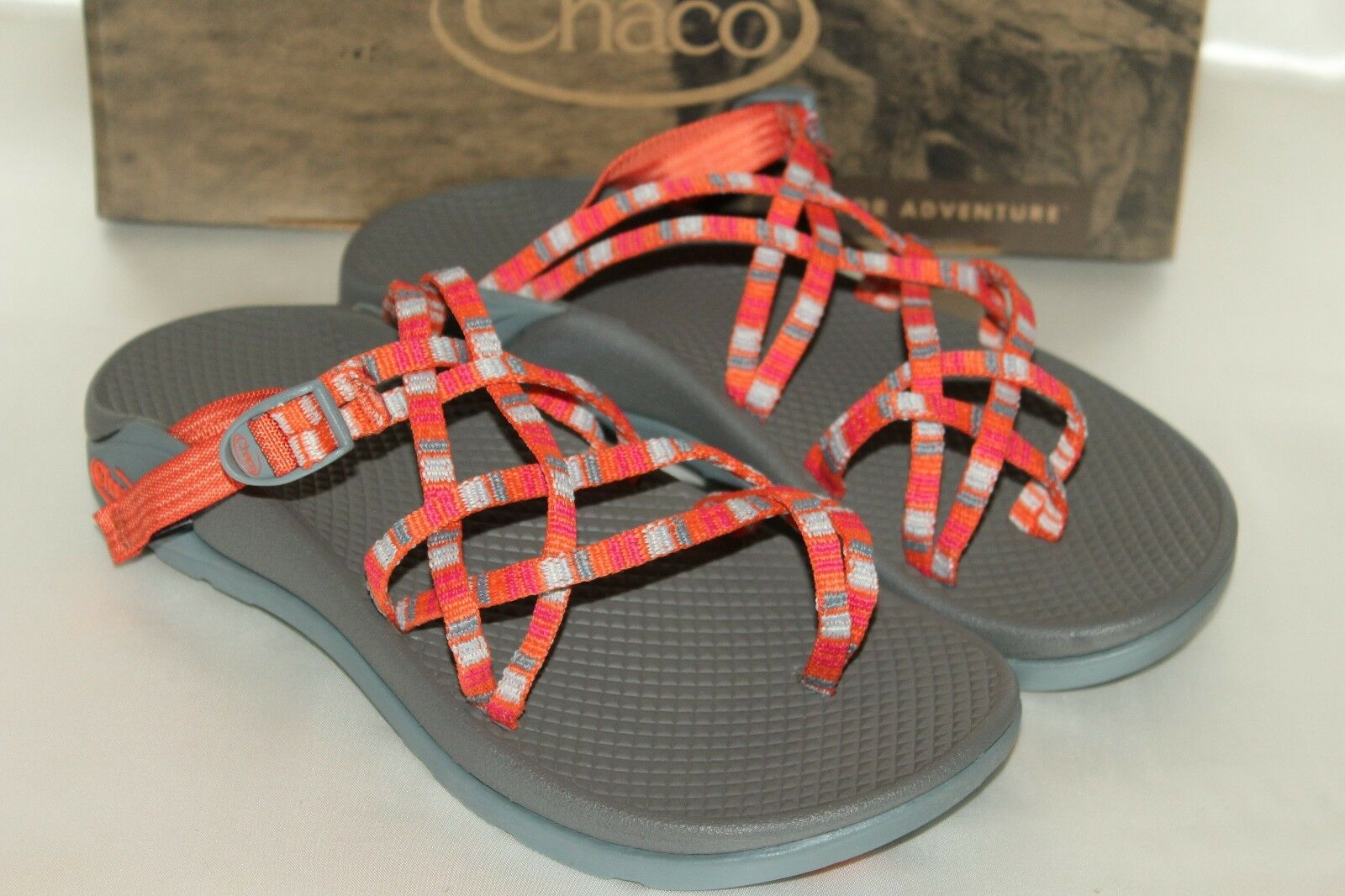 NEW  CHACO VIBRAM Tangerine ZONG X Ecotread Sport Athletic Toe Loop Sandale Sz 6