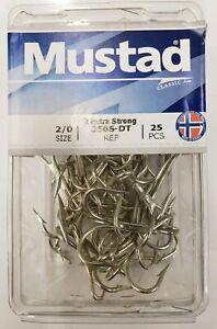 25 Pack Mustad 3551-DT Size 10//0 Duratin Saltwater Treble Hooks 3551DT-100