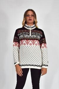 KILKENNY-Maglione-Sweater-Jumper-Bianco-Girocollo-In-Lana-TG-XL-Donna-Woman