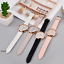 Glitter-Sparkling-Women-039-s-Wrist-Watch-Rose-Gold-Leather-Bracelet-Ladies-Gift miniature 2