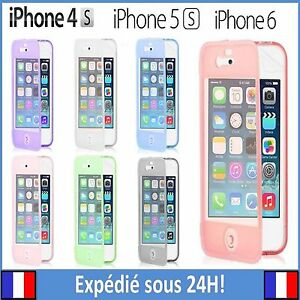 Coque-Etuit-Housse-protection-gel-Silicone-souple-clapet-pour-iPhone-4-4S-5-5S-6