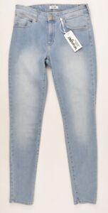 Womens Wrangler Body Bespoke Skinny Jeans In Blue Light