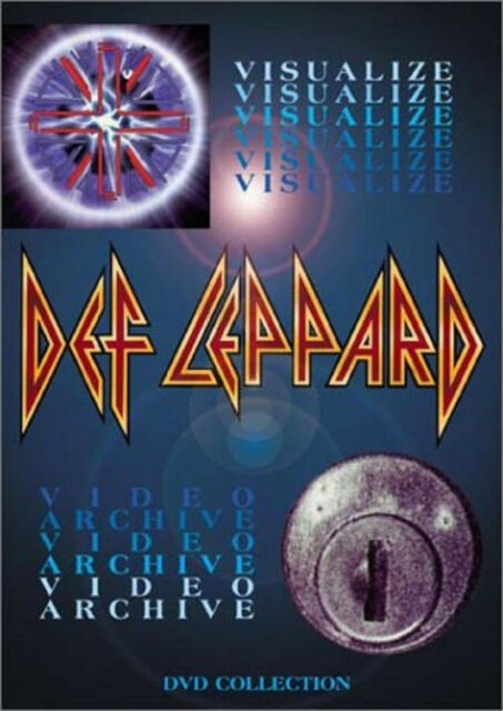 DEF LEPPARD VISUALIZE/VIDEO ARCHIVE DVD Music Video Concert UK Rel New Sealed R2