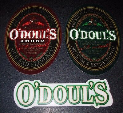 O/'DOULS odouls anheiser busch bud 3 STICKER PACK LOT decal craft beer brewery